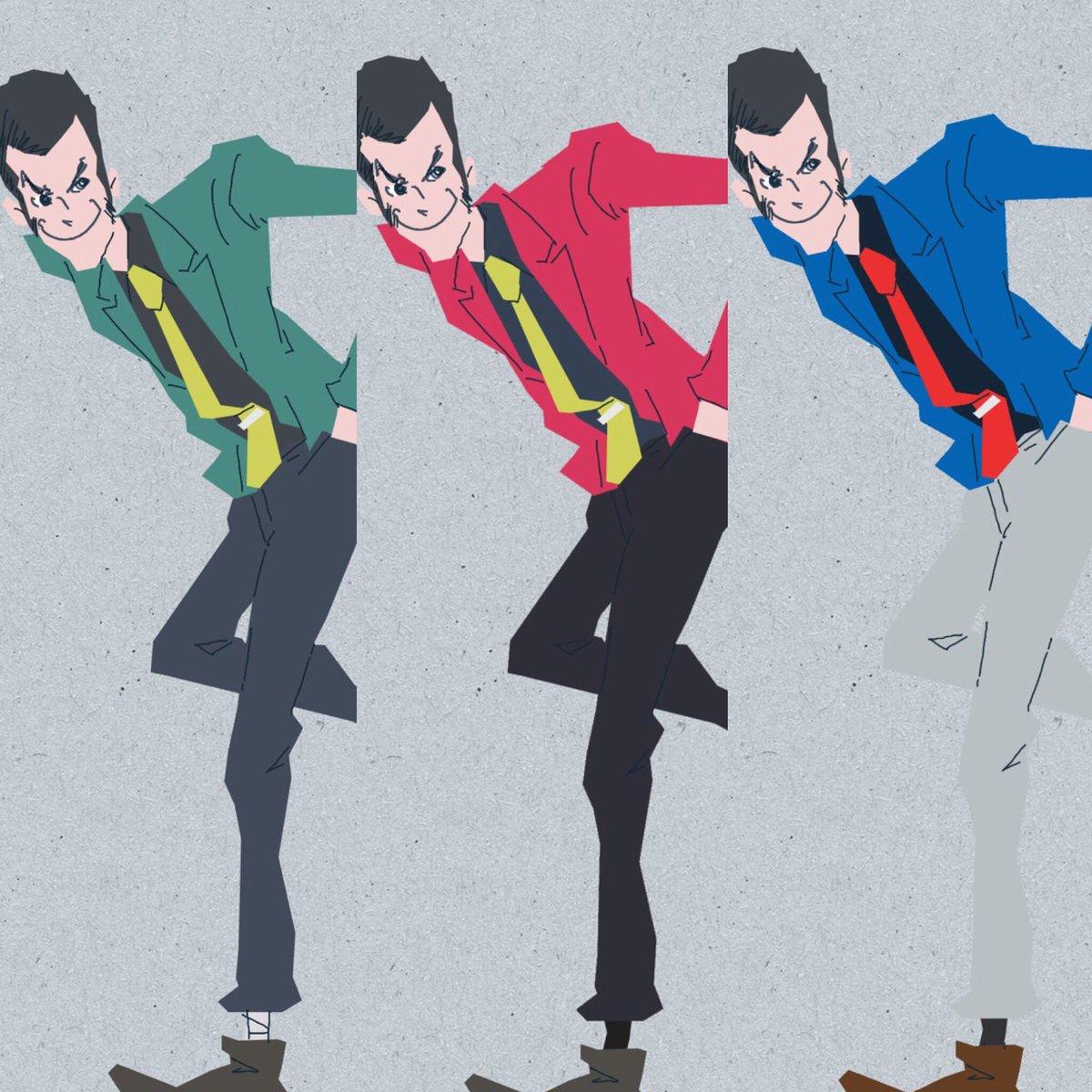 ついでに青ジャケにもしてみて揃えてみた。#ルパン放送45年 #ルパン三世 #複製人間 #kinro #ルパンVS複製人間