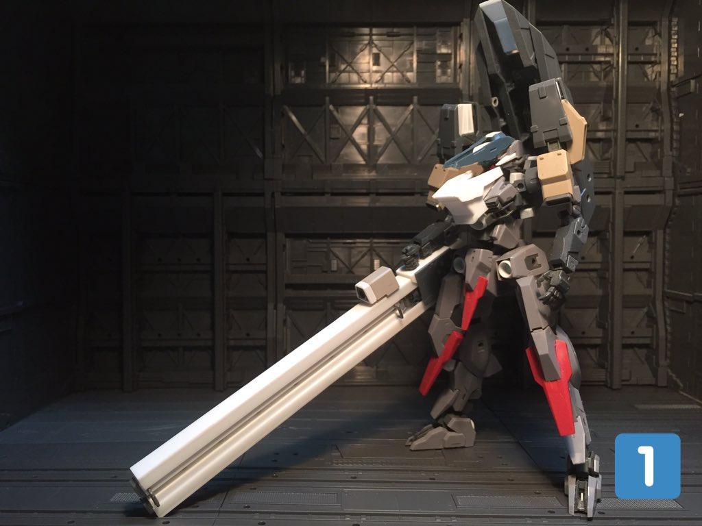 フォロワーさんの依頼で作成したレールガン(4)砲身にはメカニカルチェーンベースAの床裏にあるパーツを基に作ったっス(2)