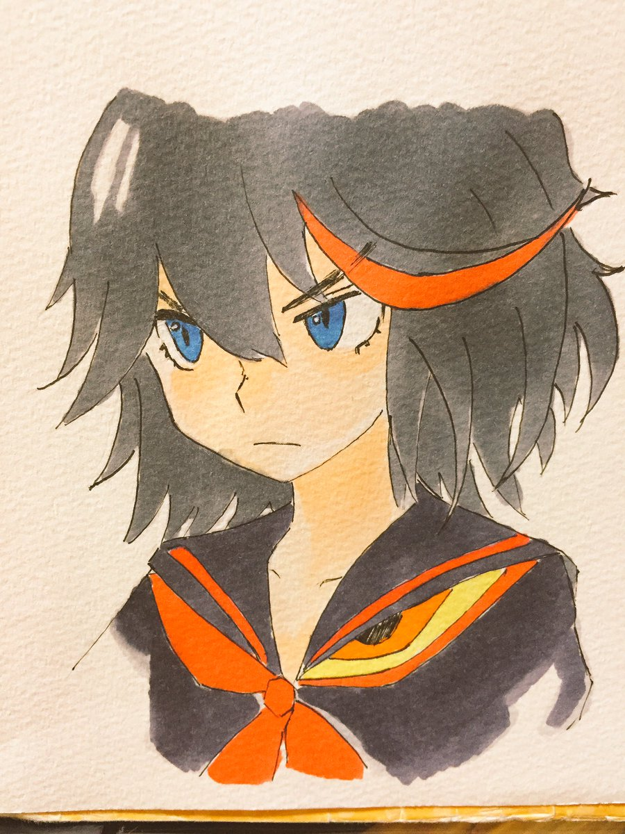 キルラキルの子描きました。名前は知らん