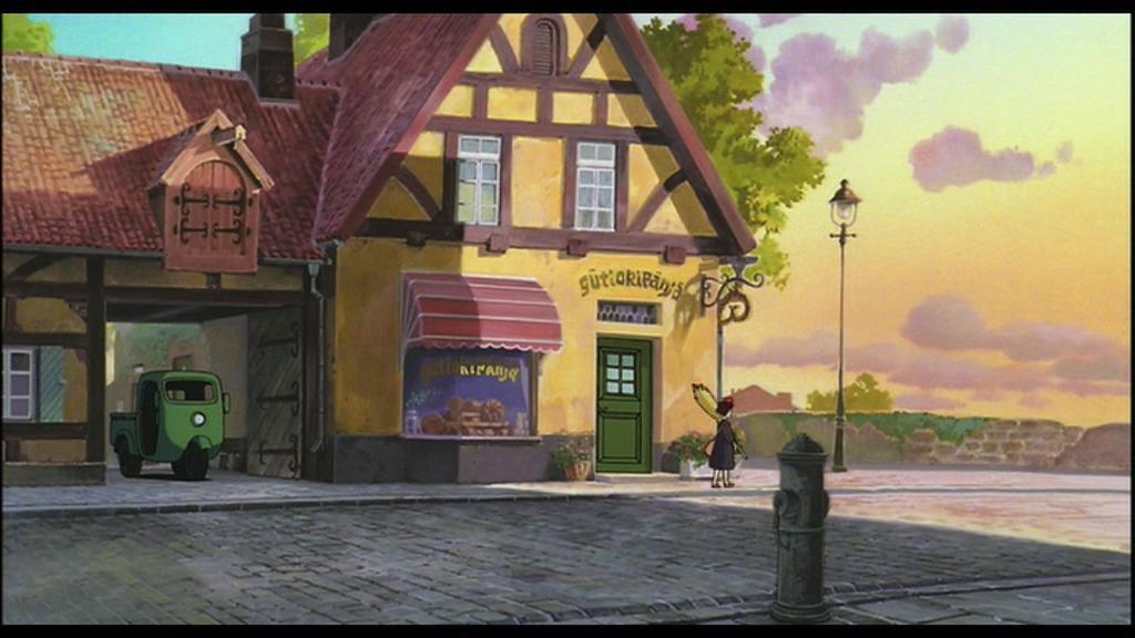 ➩魔女の宅急便のモデルとなったと言われている「ロス・ベーカリー」パン屋の経営者曰くキキの衣装を身にまとったコスプレイヤー