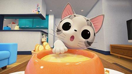 チーらよ!あちた はチーのアニメ 4カイめ「チー、チーズする」れす!みんな、みてねー!!みゃー!「こねこのチー ポンポン