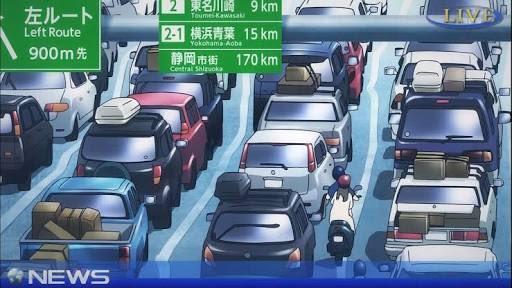 @72kmpost: ビビオペのキャプが流れてきたのだけど、驚いたのが距離。下り方向の東名川崎9km手前って首都高渋谷線