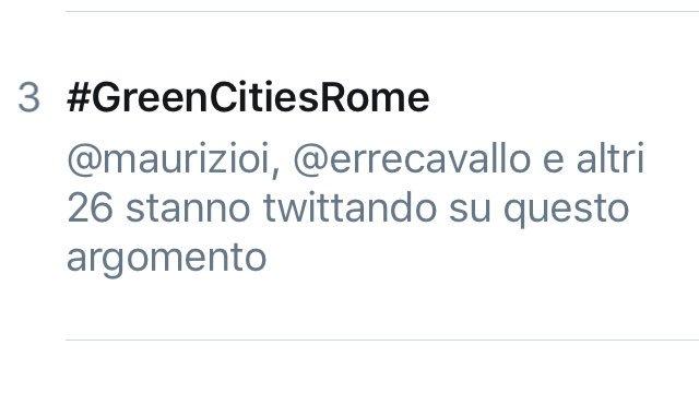#GreenCitiesRome