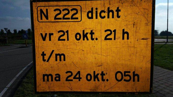 Honselersdijk Veilingroute N222  geheel afgesloten. Sommige hebben het niet door. https://t.co/DOuIJlpzuW