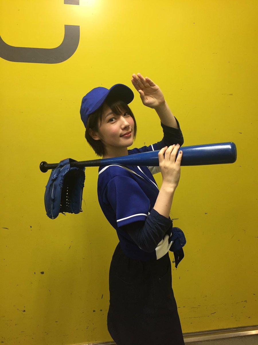 こないだの野球写真は、 PV撮影でした(*^_^*)(真礼)