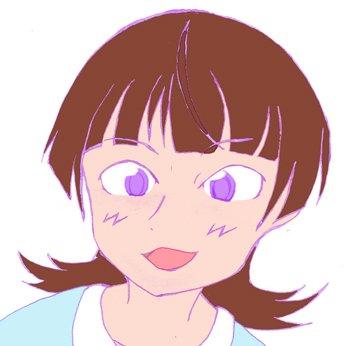サイト一周年お祝い花咲里さん、文字無しバージョン。サイズは今度は調整した(笑)。線画まではアナログで、photoshop