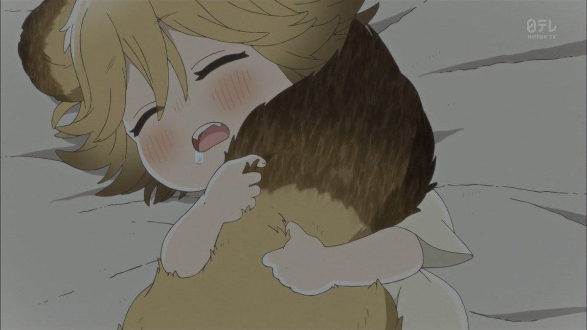 自分のしっぽ抱いて寝てるのきゃわいいいいいいいん #うどんの国 #udonnokuni