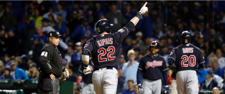 JUST IN: Kluber, Indians beat Cubs 7-2, now lead World Series 3-1