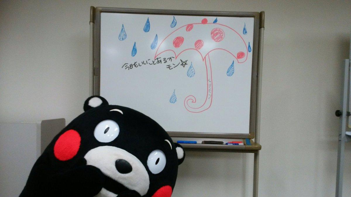 やまない雨は無かモーン!おはくま〜☆