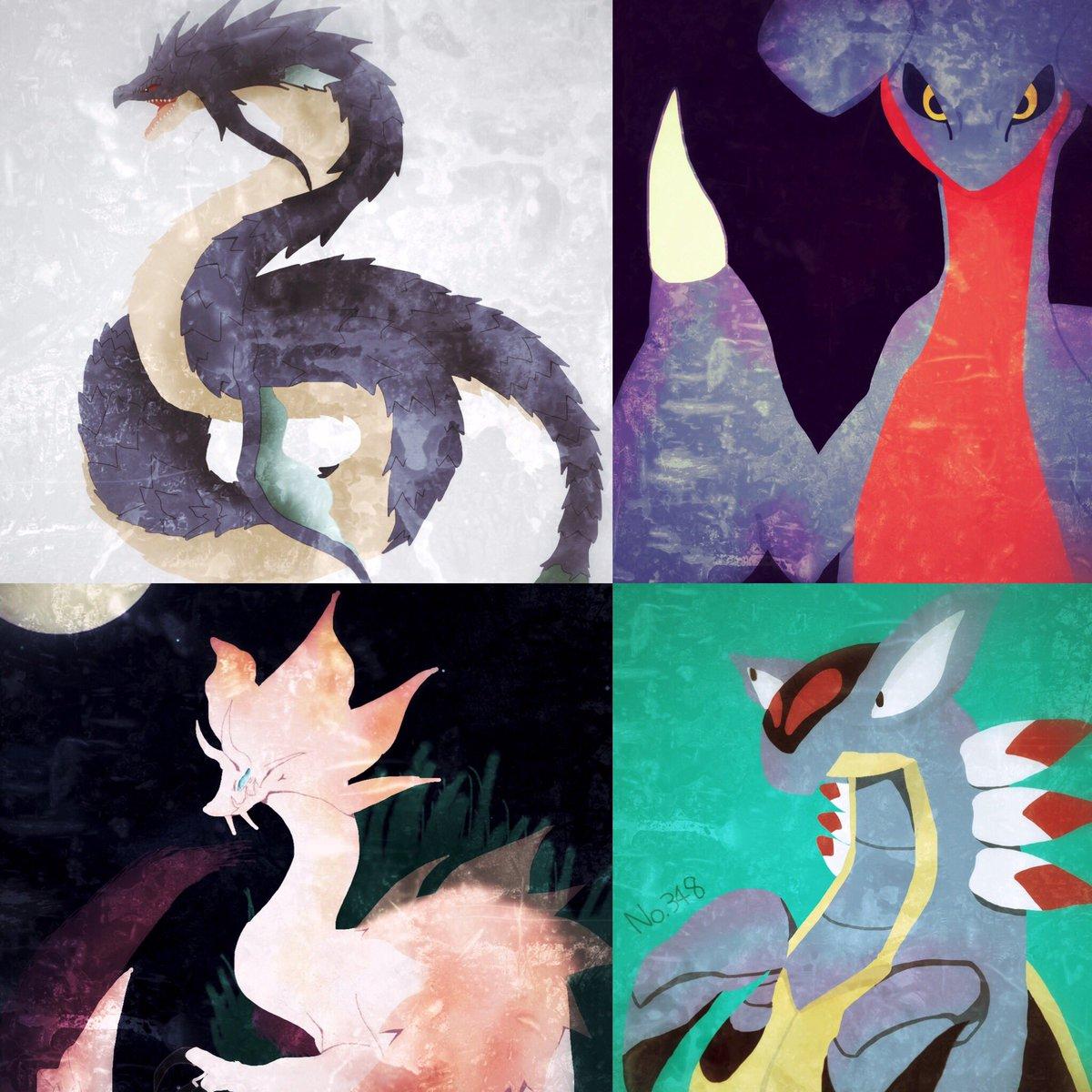 #秋の創作クラスタフォロー祭り #絵描きさんと繋がりたい ドラゴンやオリジナル、ポケモン、モンハンを中心にがりがり描いて