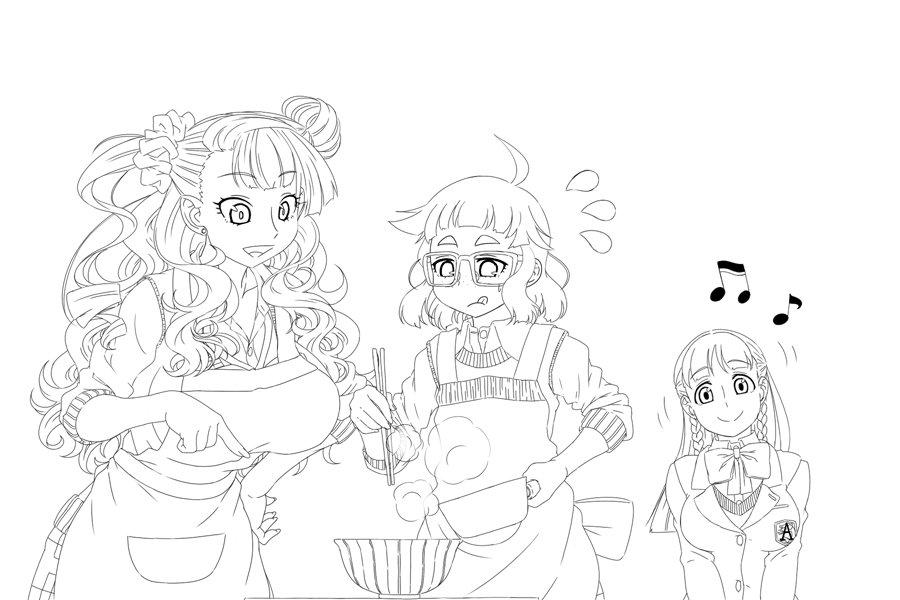 ギャル子ちゃん&オタ子のLet's Cooking with お嬢~♪