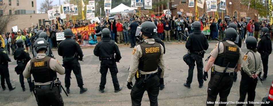 North Dakota pipeline protest prompts more than 80 arrests Saturday