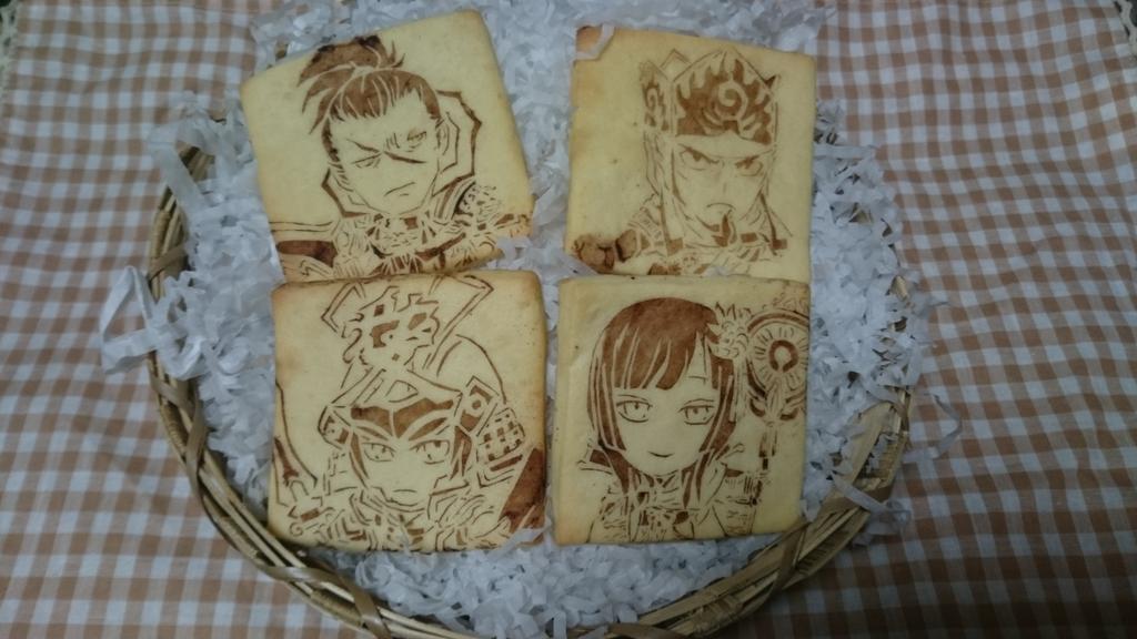 久しぶりにキャラクッキー作りました!(*´ω`*)戦国無双の謙信、綾御前、景勝(+前回作った兼続)です✨