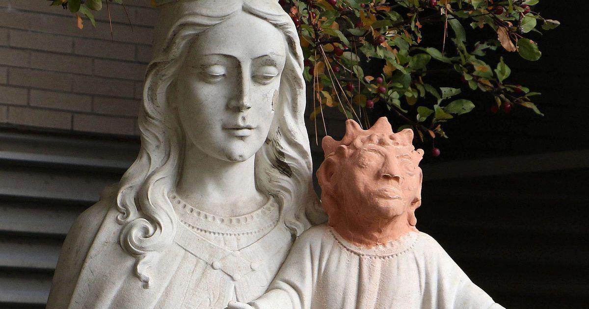 Baby Jesus' new head is a bit shocking