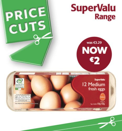 12 Eggs just €2.00 https://t.co/1w5H7jFJkf