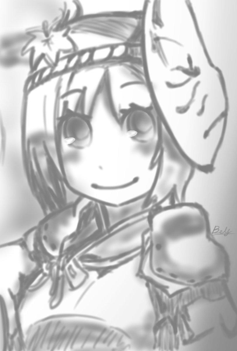 はがねオーケストラ「クレハ」描いてみました。クレハちゃんカワイイヨ!!(≧∇≦*)o#はがオケ #深夜の真剣お絵描き60