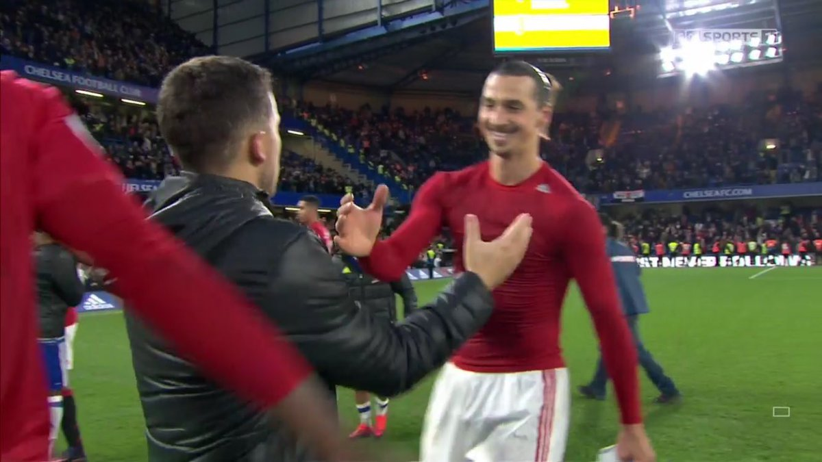 Ibrahimovic was so excited to meet Hazard