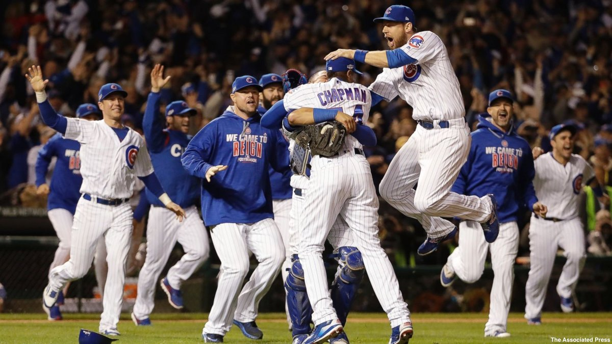 Wrigley Field erupts as Chicago Cubs reach first World Series since 1945