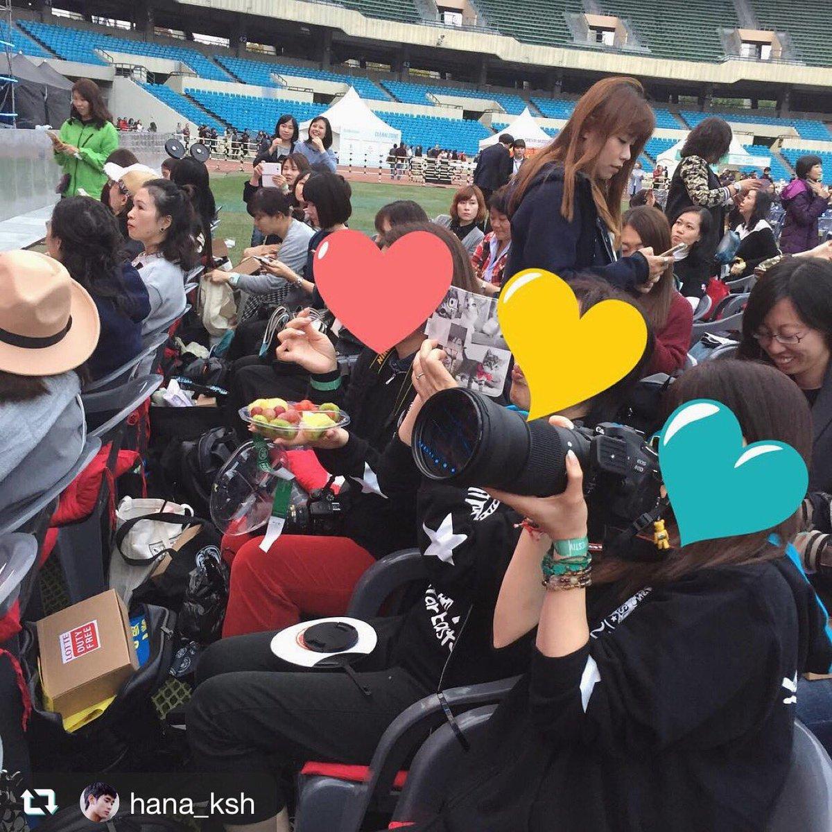 20161021 LOTTE FFhanaさん、デミちゃん、マキちゃんが撮ってくれました❤️全力で수현아を応援してきまし