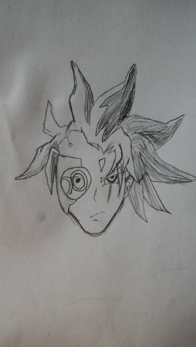 初めて遊戯王のキャラ描いてみたやっぱ初めて描くなら鬼柳さんかジャックか黒咲さんだよなぁそんな風に考えていた時期が僕にもあ
