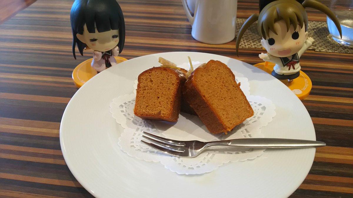 のりえ「おっ久しぶりなのりえたんスイーツ!てことで、ジンジャーパウンドケーキ、どうぞご賞味あれ~」麻音「優しくほのかに漂