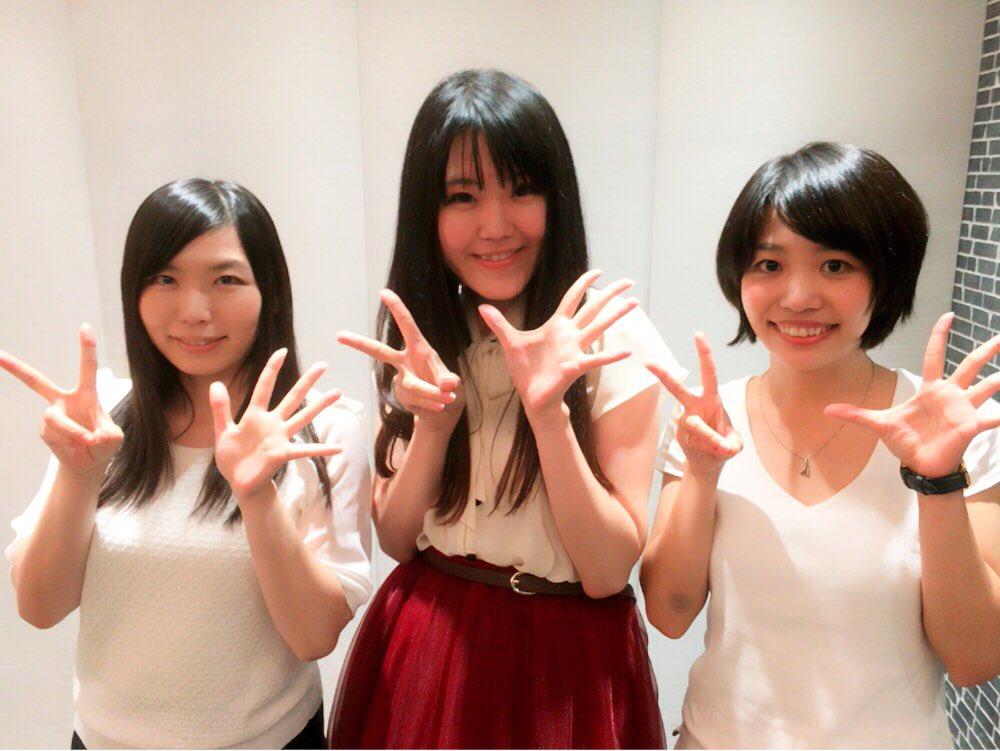 先日の勉強会での写メ♪葉月真衣×綾瀬ユウ×寺島あかりユウちゃんもSHOWROOMイベント「ナゾトキネ」に参加してるので、
