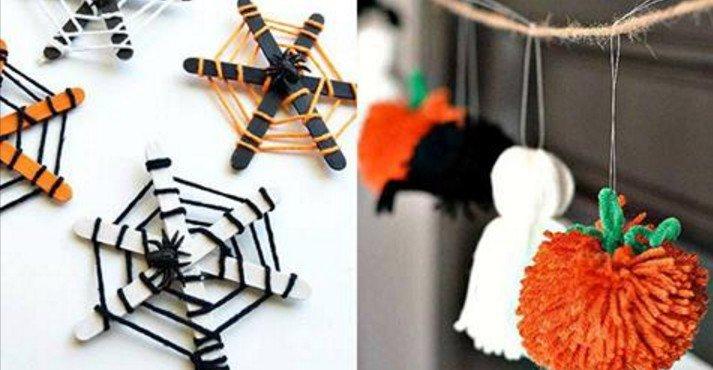 5 Manualidades para Halloween con lana
