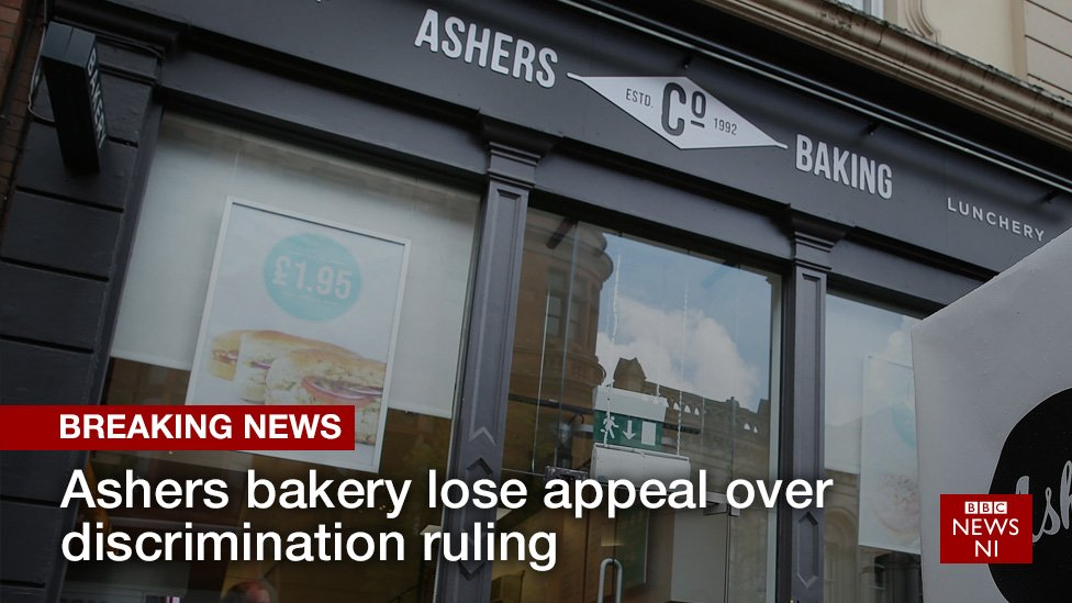 Northern Ireland bakers Ashers lose 'gay cake' appeal: