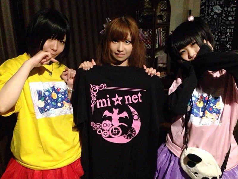 mi★netのお2人がフランチェスカTシャツ着てくれました〜♡嬉しい!そして私もmi★netのTシャツを...