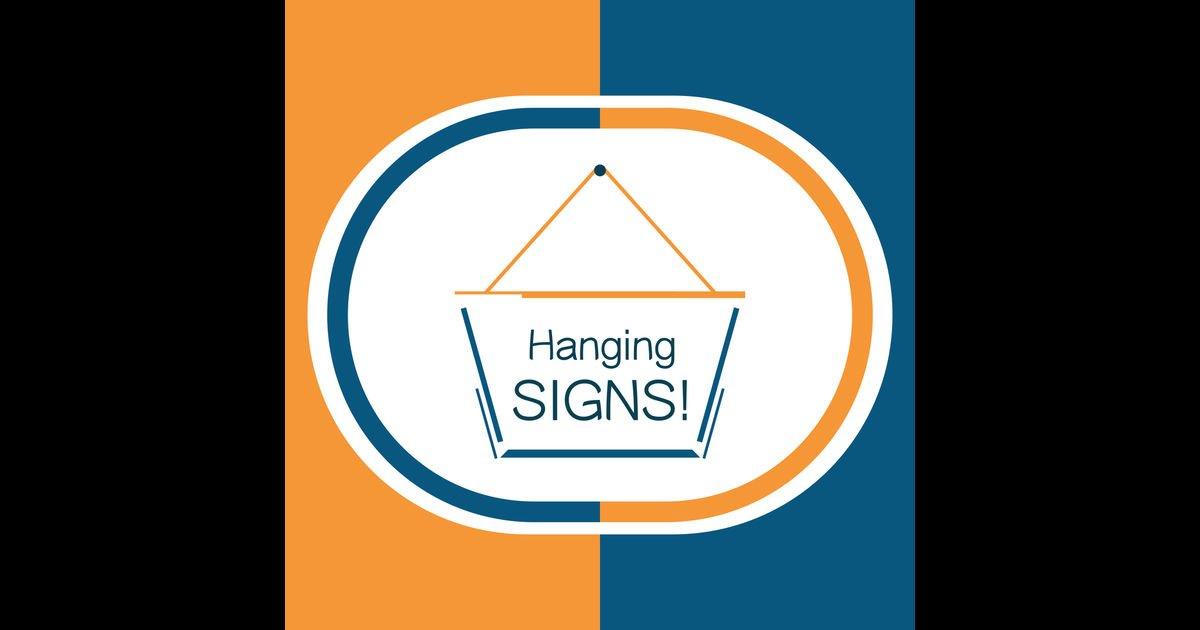 ※新着※【iPhoneアプリ】 Hang a Sign! II (Orange/Dark Blue)