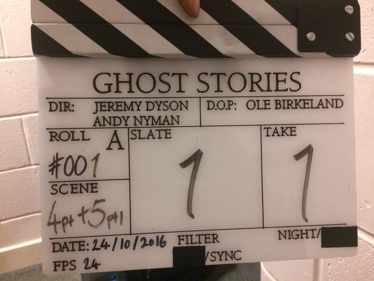 Today's Fact: The 'Ghost Stories' film is real! We started filming today. Incredible. #ghoststoriesfilm https://t.co/mhY42FETGF
