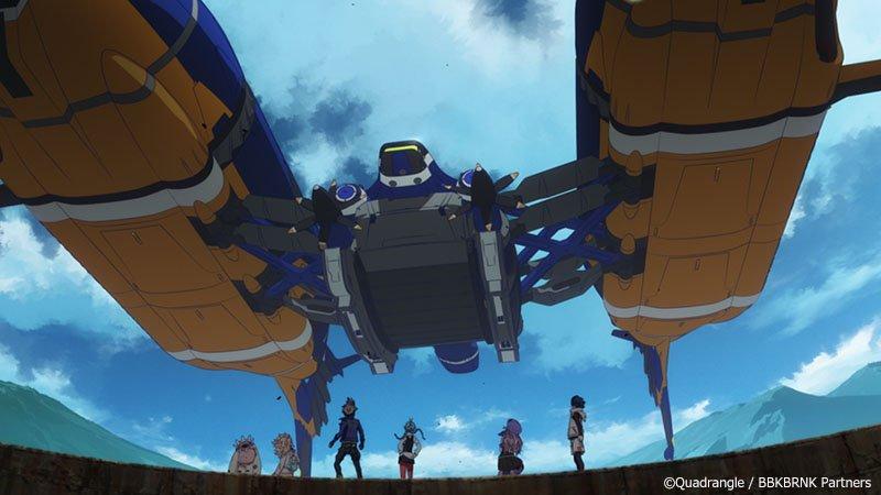 第十六話で登場したアルゴー・ガウラ号レフ。巨大なブランキも運搬できる双胴の飛行艇レフ!ドイツで建造されたものを礼央子様が