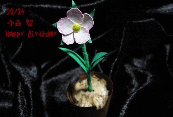 イラストじゃないけど作った花を…誕生日おめでとうサトルサァン。 #影鰐 #サトルサァン生誕祭