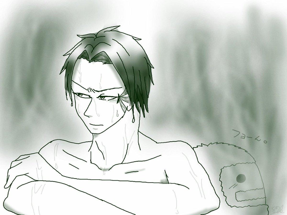 @87Kiyomasa_mssp: 「妙に悪寒がするな……?」 研究の一貫で達磨温泉に来た番場先生。 番場先生、後ろ!!