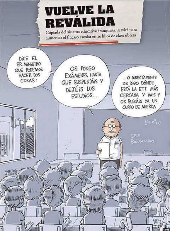 Dice el Sr. Ministro que podemos hacer dos cosas: ...  #HuelgaReválidas26O o no? https://t.co/uZh5siO3fv
