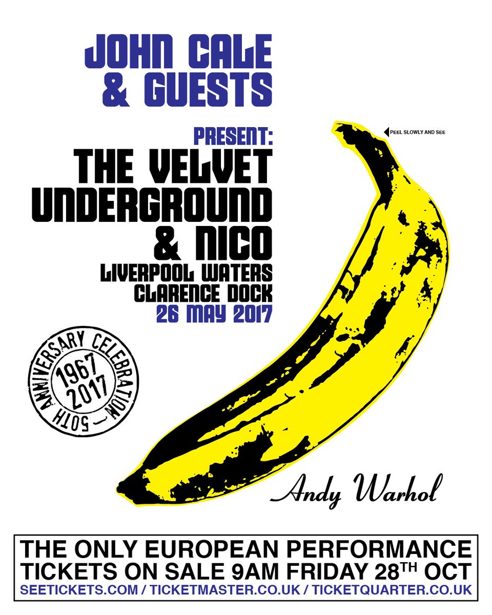 John Cale to play the The Velvet Underground & Nico album in Liverpool. 50 Year Anniversary! https://t.co/BbY3IrkyQZ https://t.co/Uqm3jSZSCJ