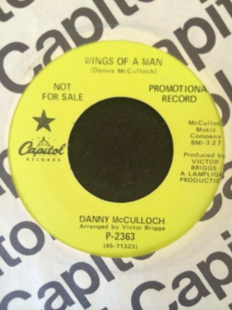 The Animalsが崩壊した直後にDanny McCullochはCapitolからソロLPを発表したが、そのA面1
