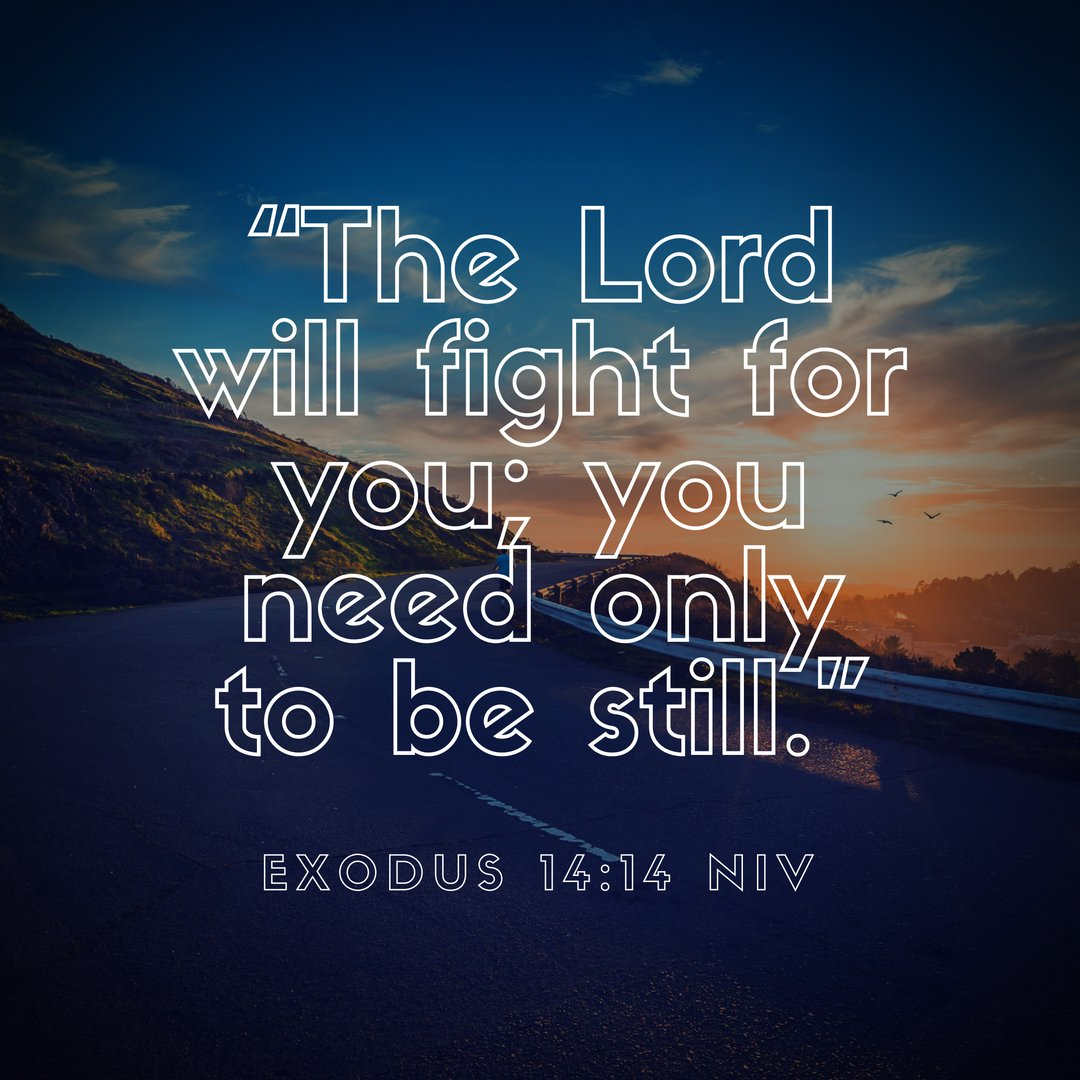 """""""The LORD will fight for you; you need only be still.""""  Exodus 14:14 https://t.co/tIyjBnz0xf"""