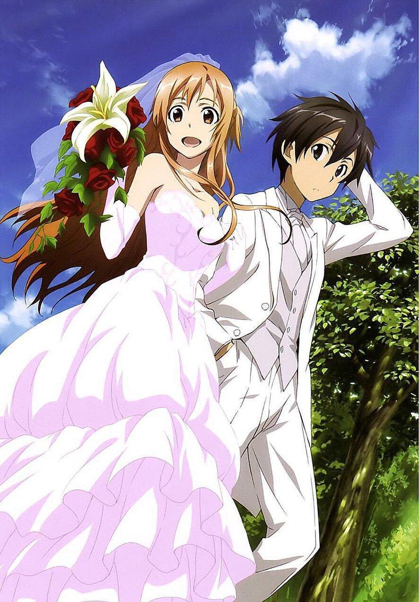 『ソードアート・オンライン』キリト、アスナおめでとう!!!(*^▽^*)!!#10月24日はキリトとアスナの結婚記念日#