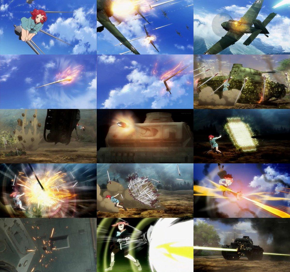 終末のイゼッタの戦闘が好み過ぎてヤバいよコンチキショー。こりゃBD買っちゃうぞ。(まさしくの)マジックミサイルで非装甲の