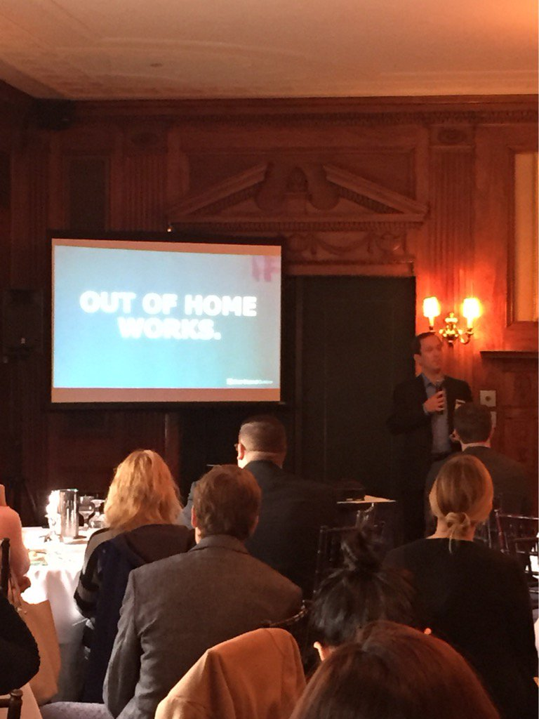 """Out of home #advertising works""--@levidan @CCOutdoorNA at our event. #OOH #crossplatform #marketing #marketresearch https://t.co/NRn5gFZH2B"