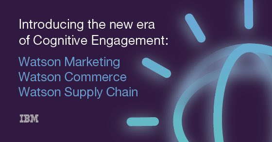 Excited to introduce  #WatsonMarketing, #WatsonCommerce and #WatsonSupplyChain! https://t.co/7Vrd3iHWjG #ibmwow https://t.co/WVq5ws8mBL