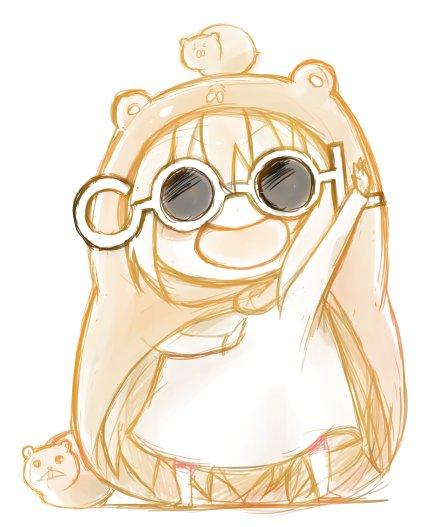 フォロワーさんがCOOL眼鏡でデコってたのでアイコンをCOOL眼鏡うまるちゃんにしてみた。あえて描いた。