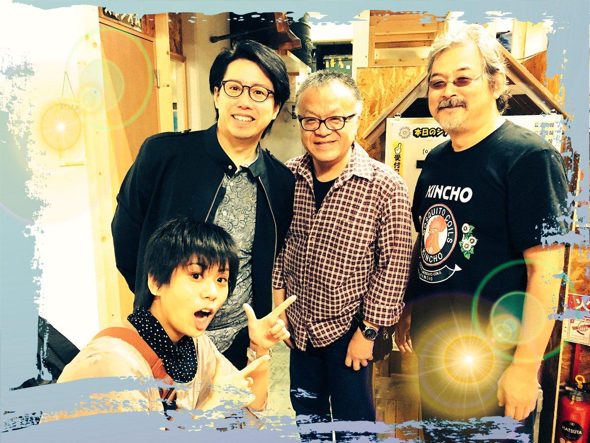 こちらにもパチリ☆カプセル兵団さんの月光条例で〈裸の王様〉を演じてらした伊藤栄次さんが、シアターOMに遊び来てくださった