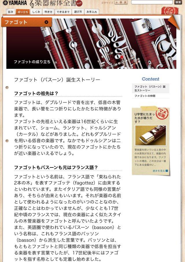 【ヤマハ株式会社】ファゴットの成り立ち:ファゴット(バスーン)誕生ストーリー - 楽器解体全書PLUS - #anime