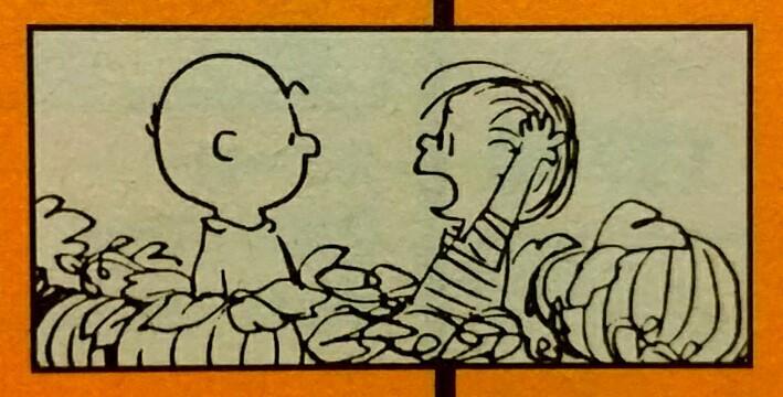 おはこんにちは☀1959年の今日10月26日は、漫画『PEANUTS』で、ライナスが初めて「カボチャ大王」に言及した日で