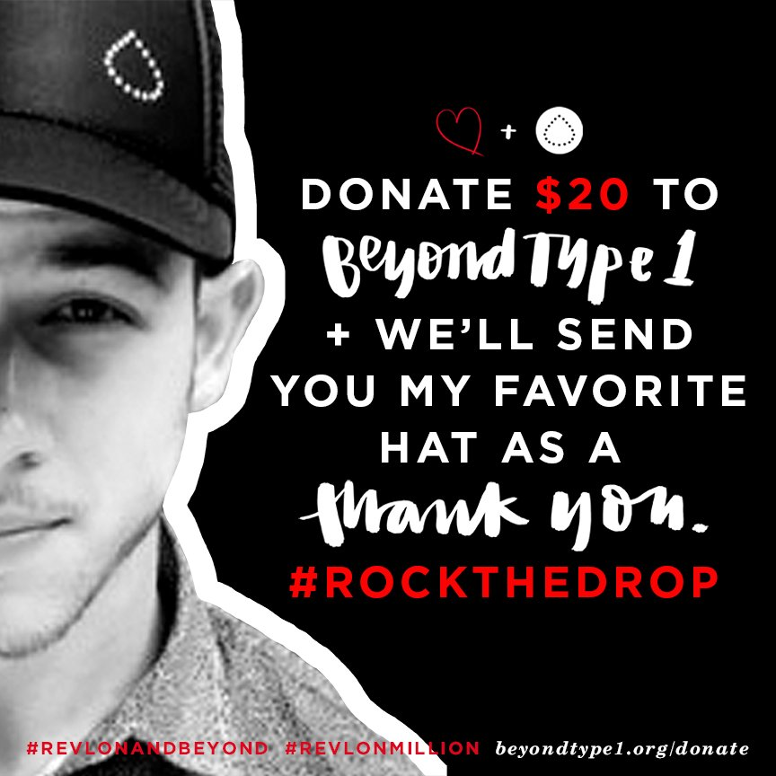 Support @BeyondType1 today. Donate $20 and we'll send you my favorite hat. #rockthedrop  https://t.co/x1X7enxWpd https://t.co/VZdEUJUW2G