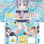 """ニンテンドー3DSの""""テーマショップ""""に、TVアニメ「NEW GAME!」が初登場!今回お届けするのは、青葉たちが描かれ"""