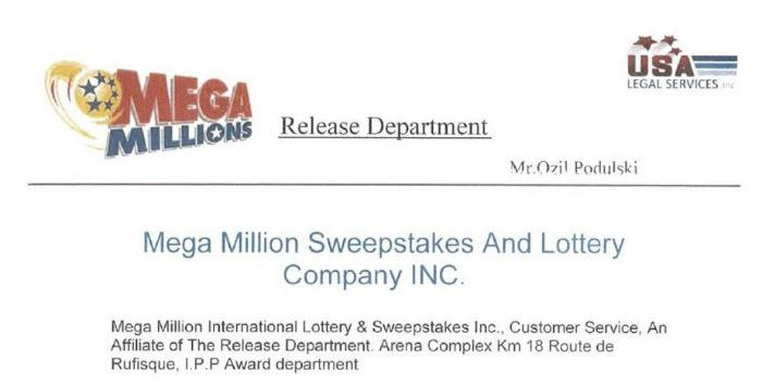 Usa lottery sweepstakes millions