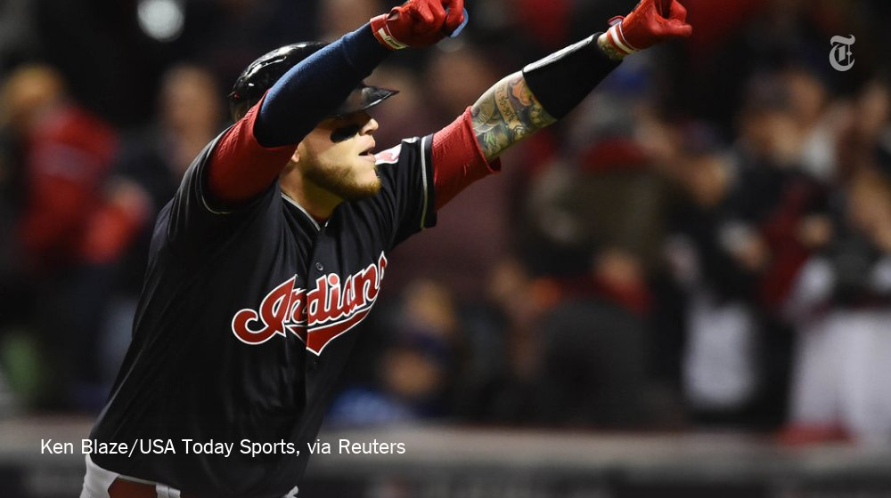 Cubs threaten, but Indians are holding a 3-0 lead in World Series Game 1. Live updates here: